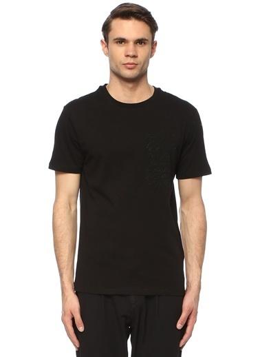 NetWork Erkek 1074399 Slim Fit Baskılı T-shirt Siyah